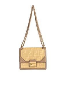 Fendi - Kan U Small Minibag in yellow with FF motif