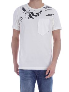 Stone Island - Patch pocket T-shirt in ivory color
