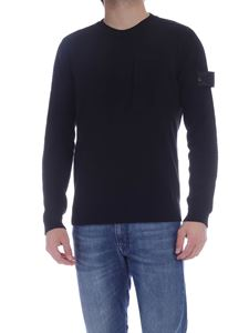 Stone Island - Front pocket pullover in black