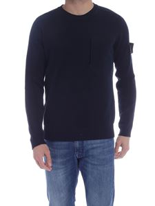 Stone Island - Front pocket pullover in blue