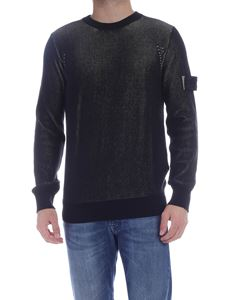 Stone Island - Ribbed pullover in black and green