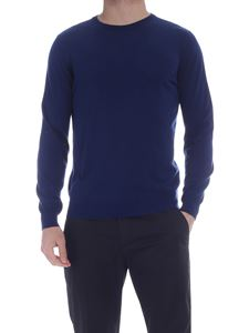 Kangra Cashmere - Crew-neck pullover in blue