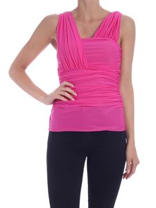 Pinko - One-shoulder Lalabel top in fuchsia