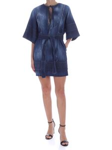 Dsquared2 - Dress in dark blue denim