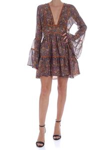 Dsquared2 - Printed silk short dress
