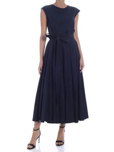S Max Mara - Filly long dress in blue