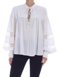 Pinko - Effy blouse in white