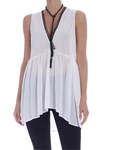 Pinko - Danguard top in white