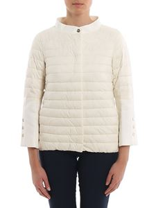 Herno - Matte padded jacket in white
