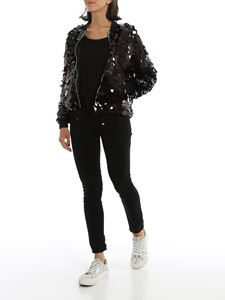 Herno - Maxi sequins bomber jacket in black