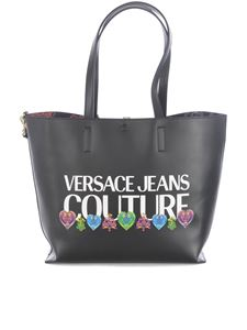 Versace Jeans Couture - Reversible faux-leather tote bag in black