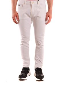 Versace Jeans Couture - Logo embroidery slim jeans in white