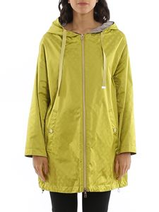 Herno - Reversible oversize jacket in lime color