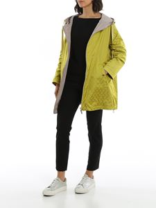 Herno - Reversible oversized lime tone jacket