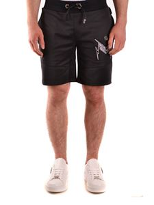 Philipp Plein - Bermuda with Thunder print in black