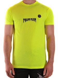 Philipp Plein - Logo print T-shirt in yellow