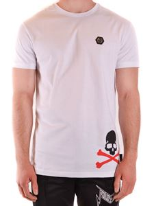 Philipp Plein - Skull print T-shirt in white