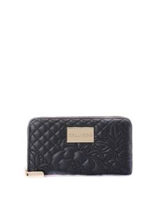 Ermanno by Ermanno Scervino - Quilted black faux leather wallet