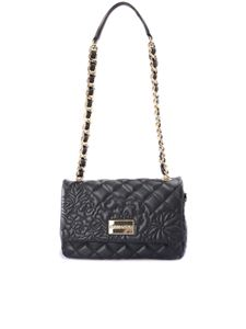Ermanno by Ermanno Scervino - Quilted black faux leather cross body bag