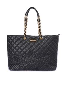 Ermanno by Ermanno Scervino - Quilted black faux leather tote