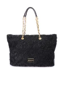 Ermanno by Ermanno Scervino - Embroidered tote in black