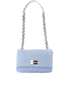 Ermanno by Ermanno Scervino - Quilted light blue faux leather cross body bag