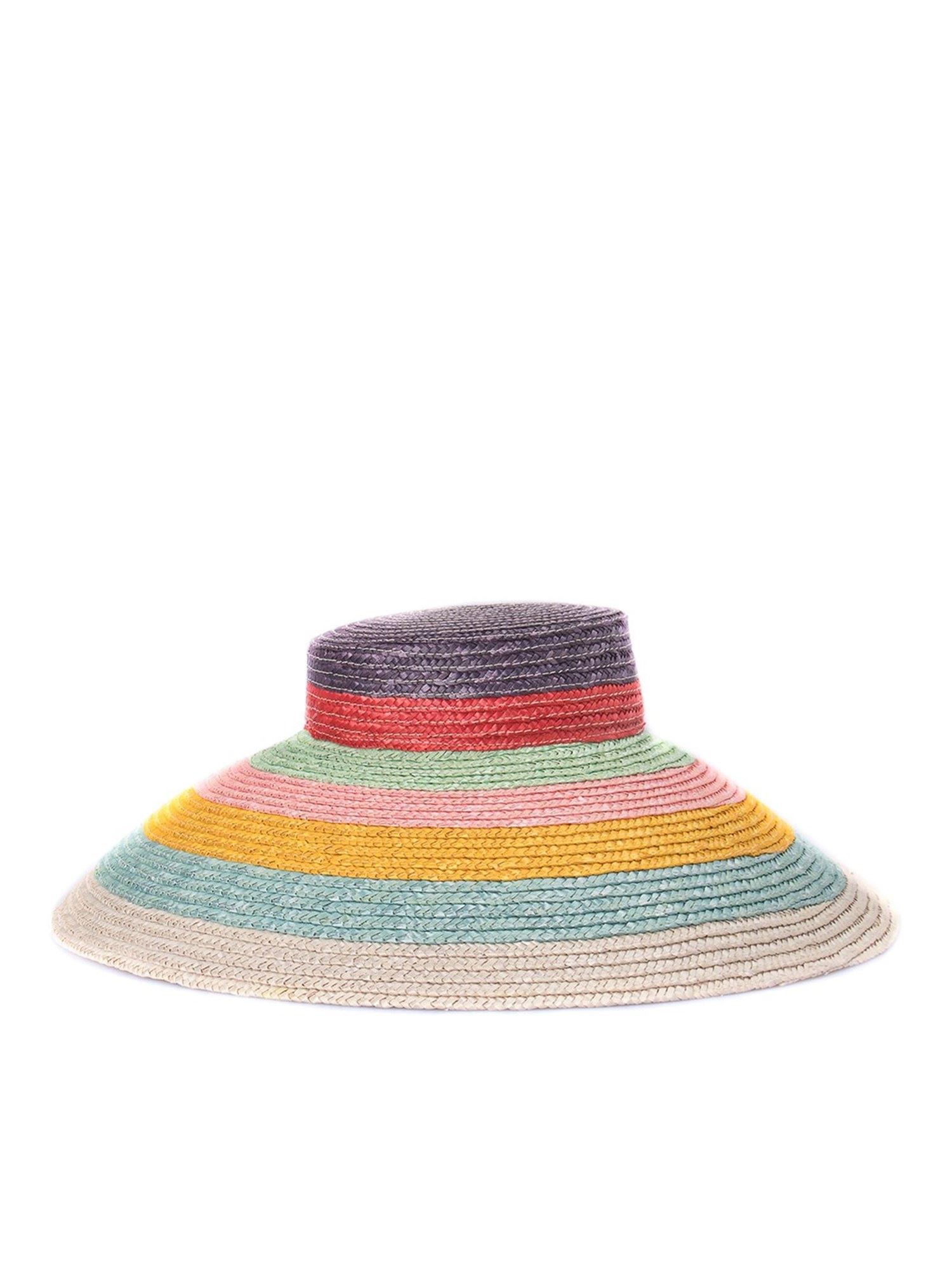 Missoni MULTICOLOUR STRIPED STRAW HAT