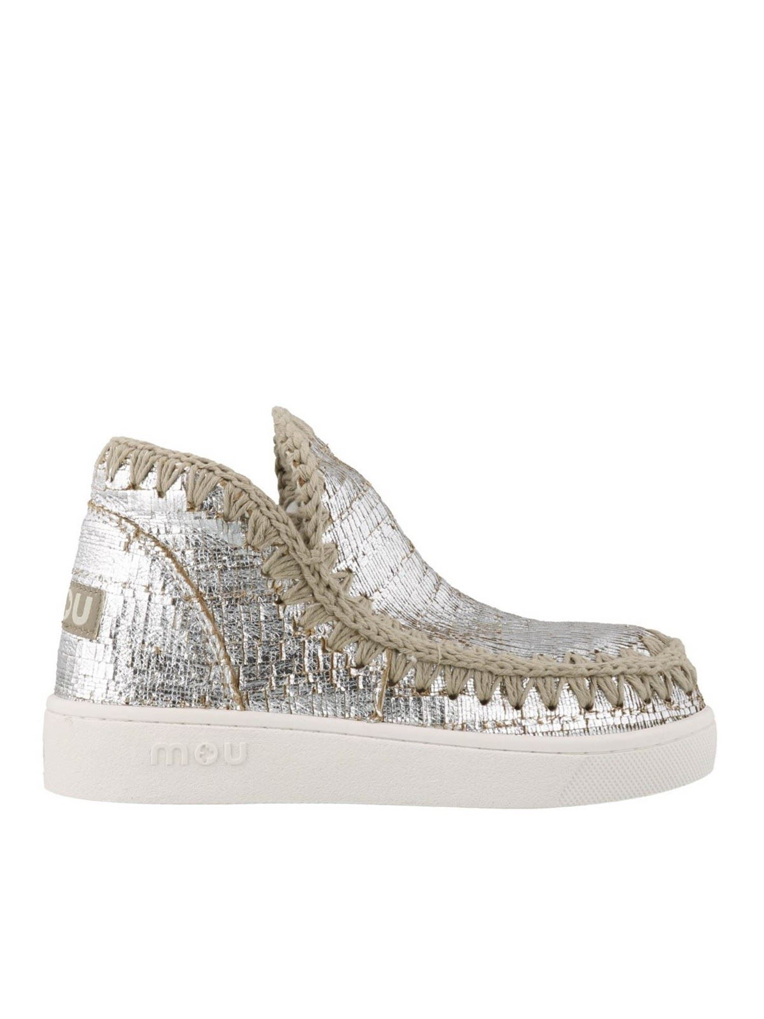 Mou ESKIMO LAMINATED CANVAS SNEAKERS