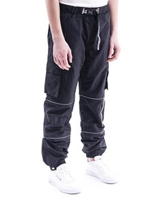 Fila - Contrasting piping cargo pants in black