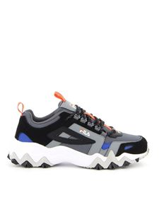 Fila - Multi material sneakers in grey and black