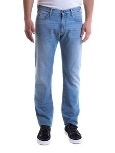 Emporio Armani - Five pockets cotton jeans in blue