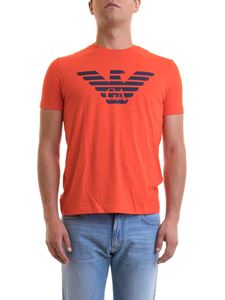 Emporio Armani - Maxi logo print T-shirt in orange color
