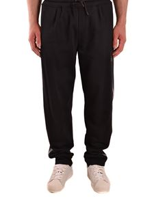 Emporio Armani - Logo patch joggers in black