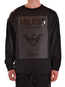 Emporio Armani - Logo patch sweatshirt in black