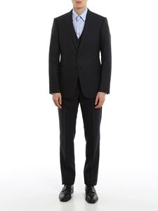 Emporio Armani - Virgin wool blend suit in blue