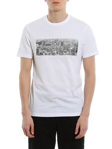 Emporio Armani - 3D effect rubberised logo patch T-shirt in white