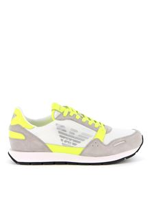 Emporio Armani - Neon detailed runner sneakers