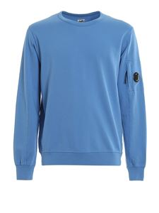 CP Company - Lens detailed cotton sweater in light blue