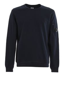 CP Company - Lens detailed blue cotton sweater