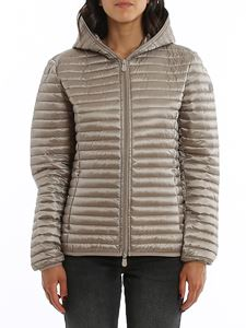 Save the duck - Water repellent hooded down jacket in grey