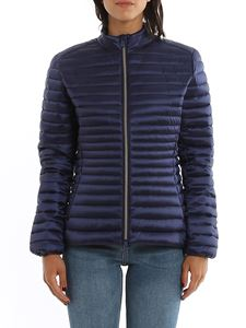 Save the duck - Eco friendly fitted puffer jacket in blue