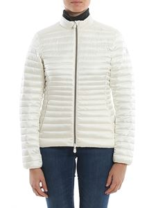 Save the duck - Eco-friendly fitted down jacket in white