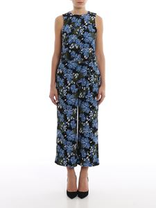 Michael Kors - Floral printed crepe sleeveless jumpsuit