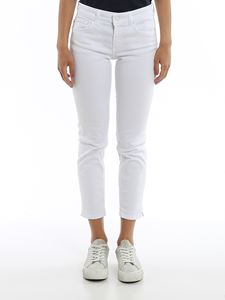 Dondup - Newdia white cropped jeans