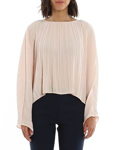 Dondup - Pleated detail crepe blouse