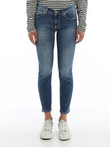 Dondup - Newdia cropped jeans in blue