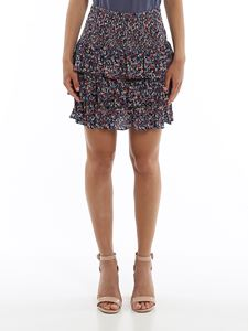 Michael Kors - Flounced floral mini skirt