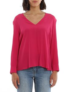 Dondup - Crepe blouse in fuchsia