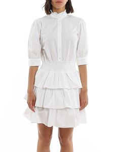 Michael Kors - Poplin flounced shirt dress