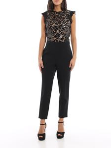 Michael Kors - Black lace trimmed jumpsuit